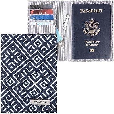《TRAVELON》兩折式護照夾(格紋)