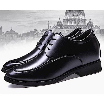 美國熊 隱型增高真牛皮婚禮皮鞋 業務鞋 正裝皮鞋