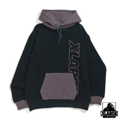 XLARGE 2TONE PULLOVER HOODED SWEAT連帽上衣-黑