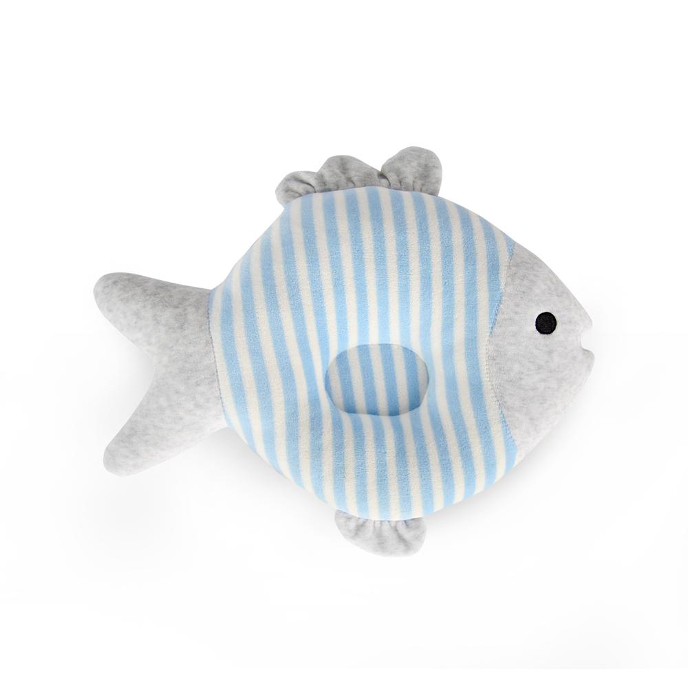 Yvonne Collection 魚魚午安枕-灰藍條紋