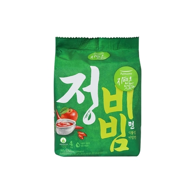 【韓味不二】pulmuone 乾拌麵(正) (135公克*4入) (正拌麵-蔬菜口味)