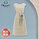 OUWEY歐薇 小千鳥格紋無袖質感綁帶連身裙(杏)3212467036 product thumbnail 1