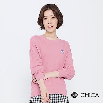 CHICA 活力雪莉甜心貓燙布貼運動衛衣(3色)