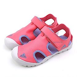 ADIDAS  中大童涼鞋-CM7640 粉紅