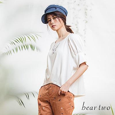 beartwo 收腰圓弧造型上衣(二色)