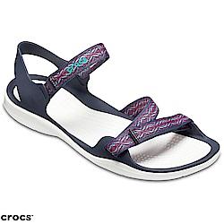 Crocs 卡駱馳 (女鞋) 女士激浪花漾織帶涼鞋 205389-4IH