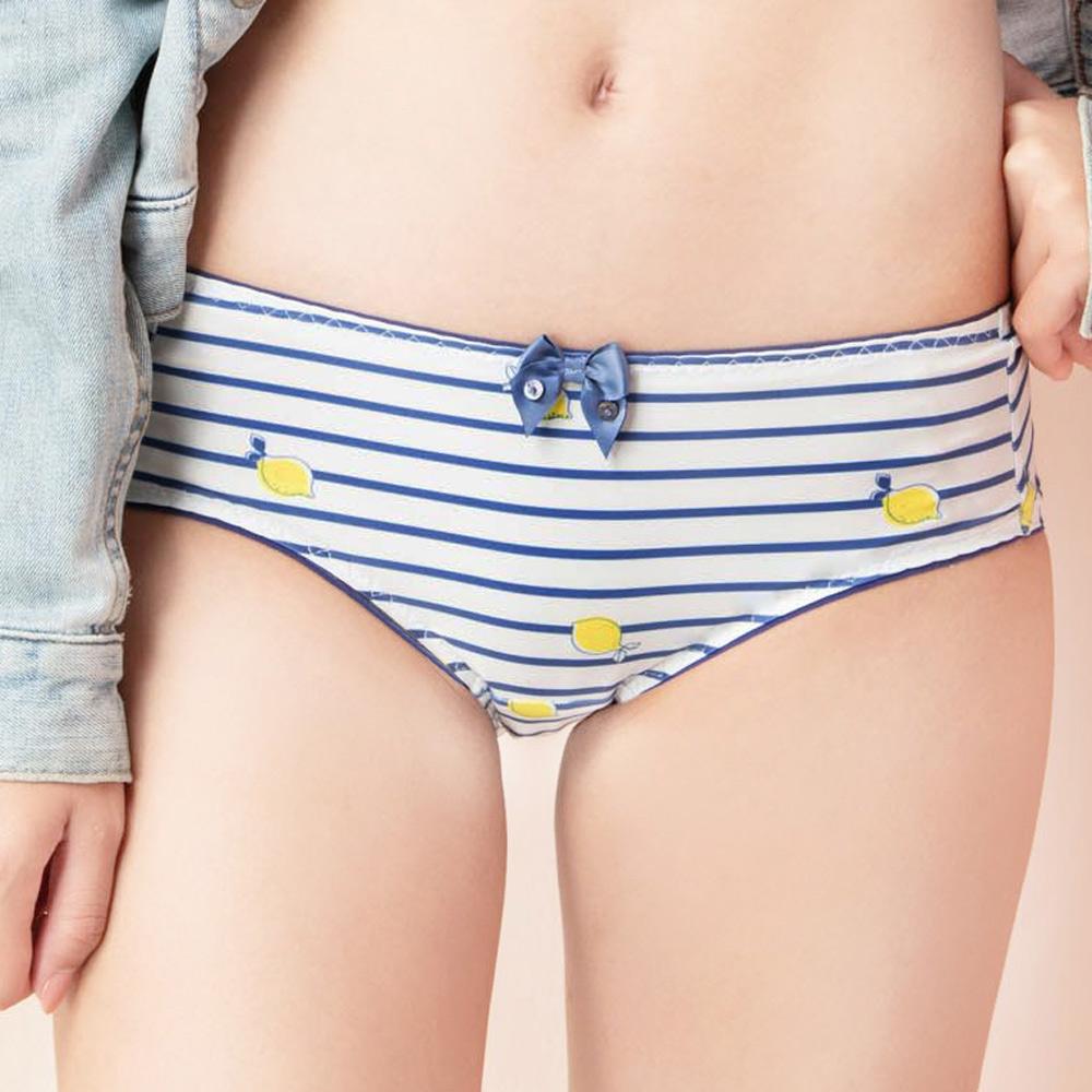 嬪婷-FTC幾何穿搭M-LL 低腰平口內褲(藍)少女學生