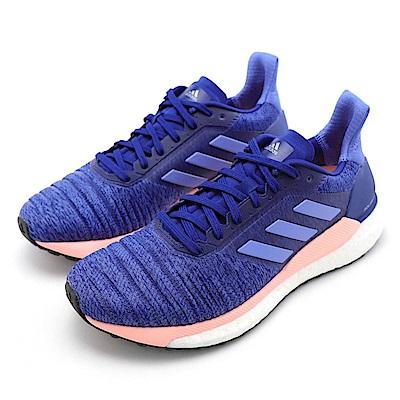 ADIDAS-SOLAR GLIDE女慢跑鞋-紫藍色