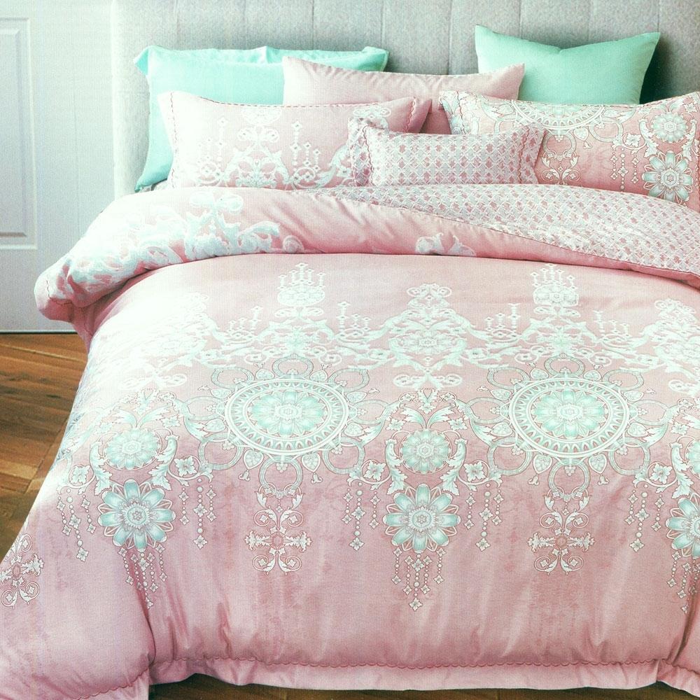 La Lune 裸睡親膚科技天絲雙人床包枕套3件組 璀璨