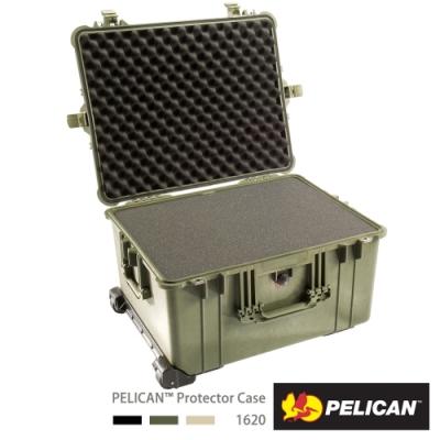 美國 PELICAN 1620 輪座拉桿氣密箱-含泡棉(綠)