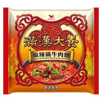 滿漢大餐 麻辣鍋牛肉麵袋裝(12入/箱)