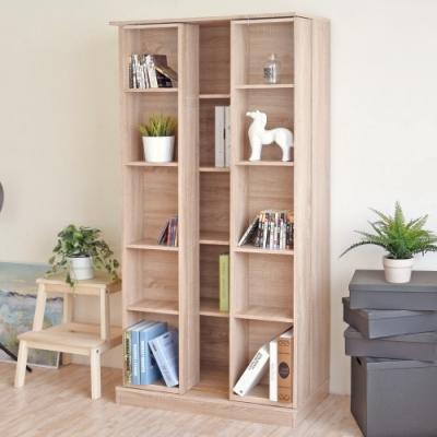《HOPMA》DIY巧收摩登雙排活動書櫃/收納櫃-寬80 x深40 x高170cm
