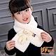 iSFun 泰迪熊玩偶 仿兔毛輕柔保暖兒童圍巾 白 product thumbnail 1