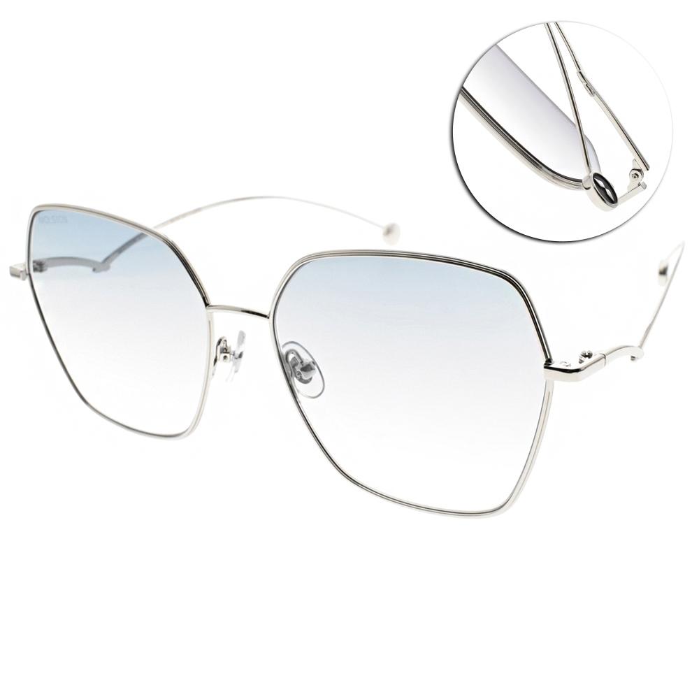 MOLSION 太陽眼鏡 Angelababy代言 /銀-漸層藍鏡片#MS7086 A90