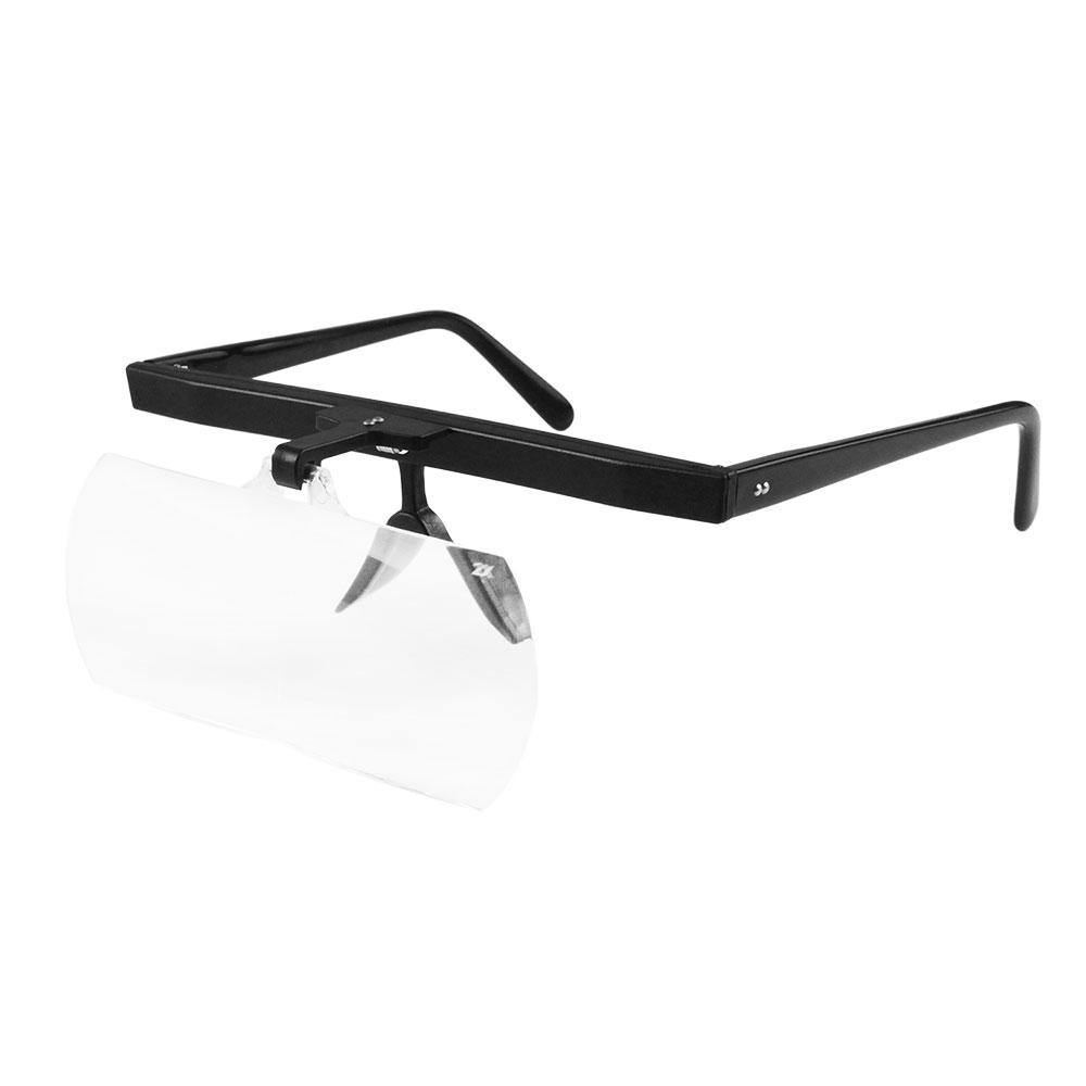 【日本 I.L.K.】1.6x/110x45mm 日本製大鏡面眼鏡式放大鏡 單片組