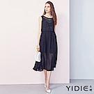 【YIDIE衣蝶】典雅蕾絲拼接雪紡洋裝