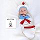 【美國 BABY joe】壯壯大力小水手穿套式實用造型包巾套組 product thumbnail 1