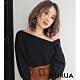 MURUA 露單肩造型五分袖上衣(2色) product thumbnail 1