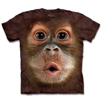 摩達客-美國進口The Mountain 可愛猩猩臉 兒童版純棉環保短袖T恤