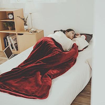 絲薇諾 栗子紅 加厚版法蘭羊羔絨睡袋毯(1.64kg)