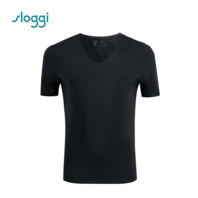 sloggi men ZERO Feel 零感系列短袖內著上衣 純粹黑 Y90-445 K9