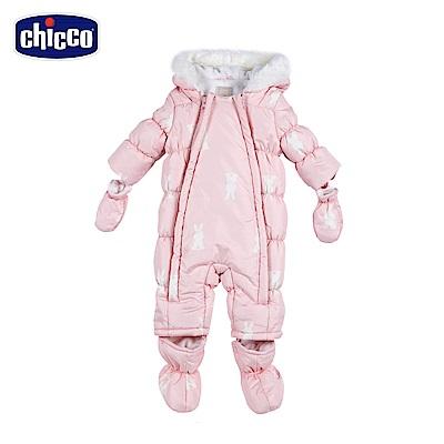 chicco-可愛動物系列-科技棉雪衣式連帽兔裝-粉( 6 - 12 個月)
