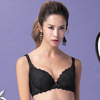 莎薇-巴洛克的魔力推推 D-E 罩杯內衣(黑)集中機能