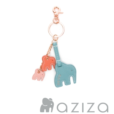 aziza NIRI三隻小象鑰匙圈 松石綠