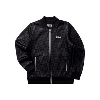 FILA KIDS 童針織外套-黑 1JKT-8404-BK