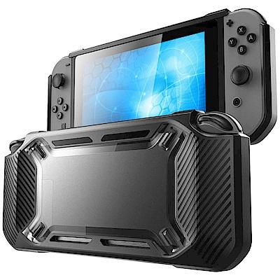 Nintendo任天堂Switch專用 主機TPU耐震保護殼 (黑邊透明)