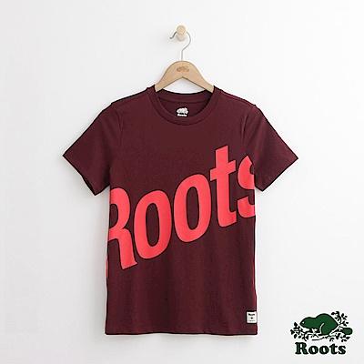 Roots -女裝- 卡麥隆短袖T恤 - 紅