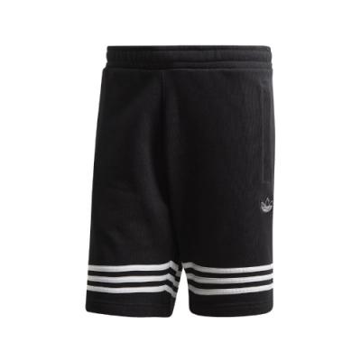 adidas 短褲 Outline Shorts 運動休閒 男款 愛迪達 三葉草 三線 口袋 基本款 黑 白 FM3877