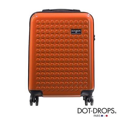 DOT-DROPS 20 吋 Chapter 2 輕量客製點點硬殼行李箱 - 珊瑚橘