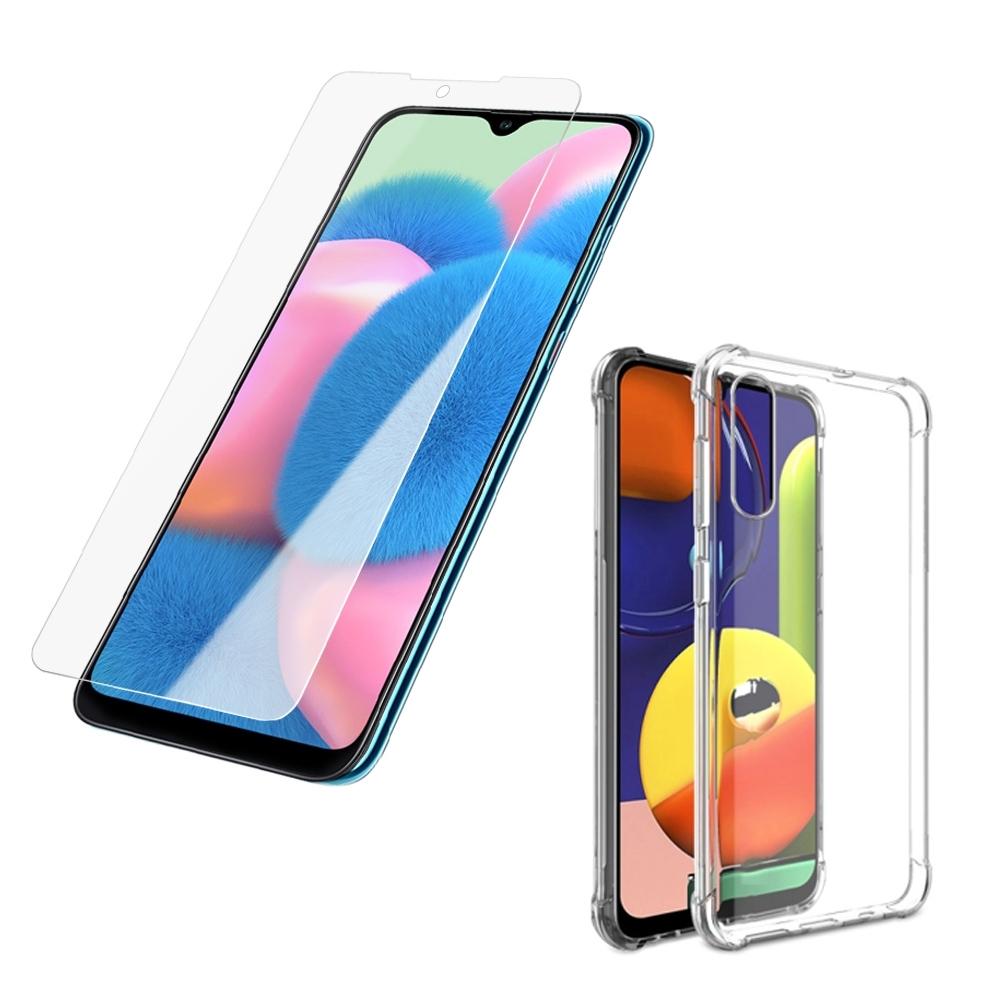 買保護貼送手機殼 三星 A30s 非滿版 9H玻璃鋼化膜 手機 保護貼 三星A30s保護貼 三星A30s鋼化膜