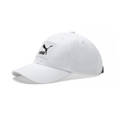 PUMA-男女流行系列織標LOGO棒球帽-白色