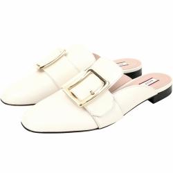 BALLY JANELLE 小牛皮穿釦設計穆勒鞋