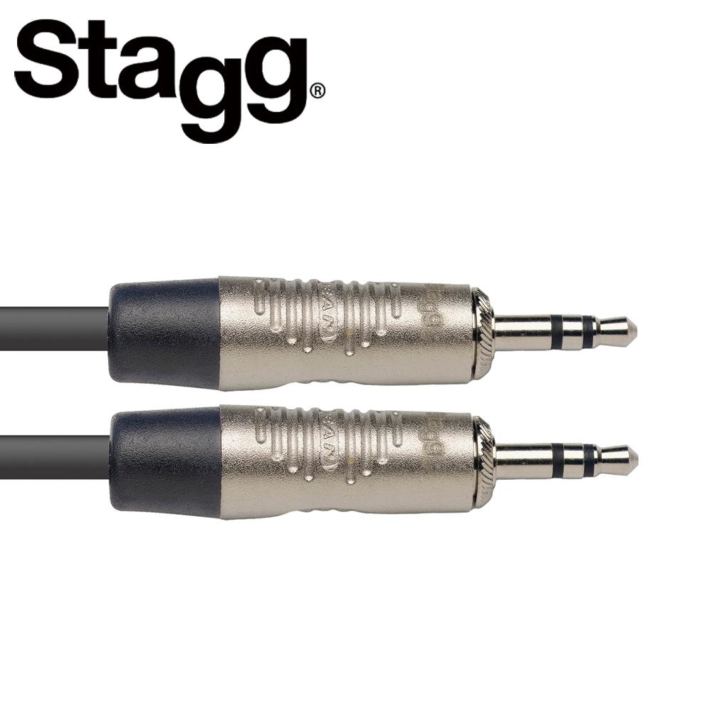 STAGG NAC2MPSR 3.5mm 立體聲公頭對 3.5mm 立體聲公頭 2M音源線