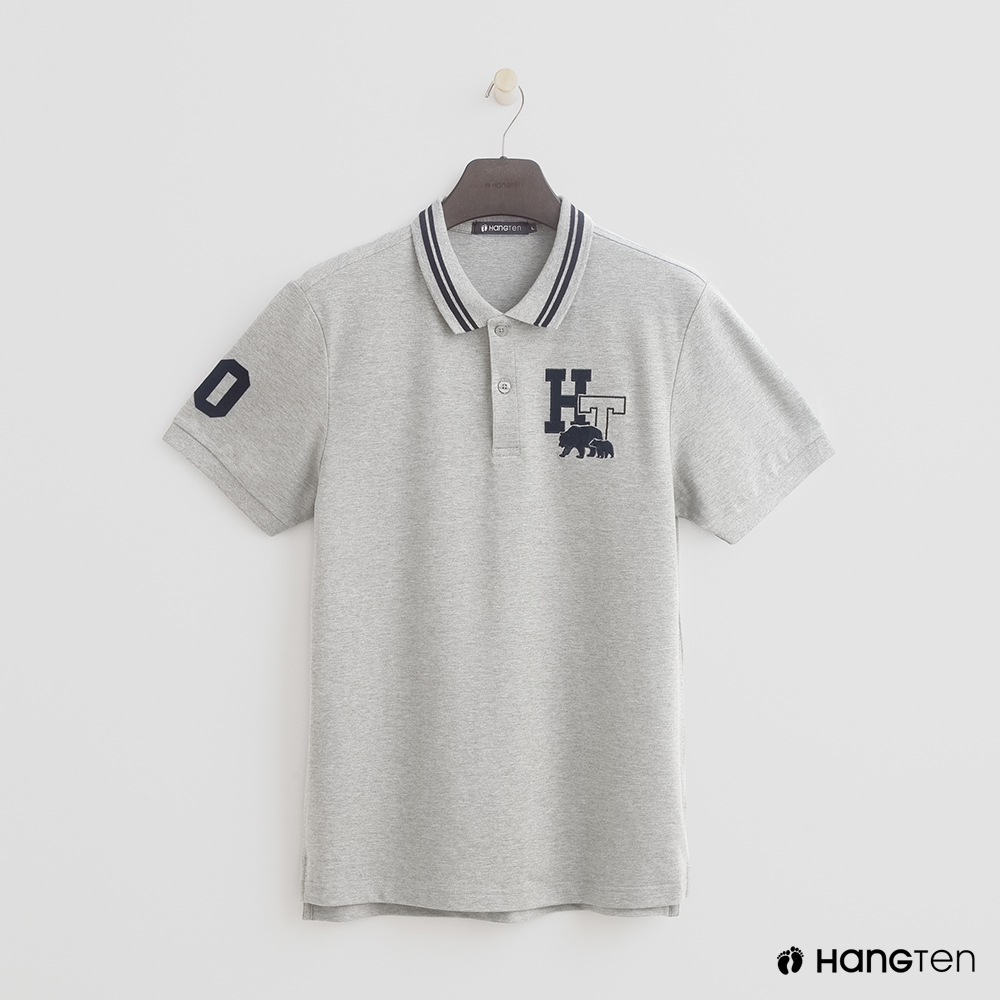 Hang Ten - 男裝 - logo滾邊領POLO衫 - 灰