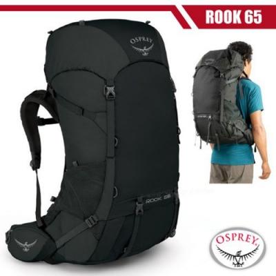 OSPREY 男新款 Rook 65 專業輕量透氣登山背包_黑 R