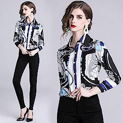 時尚個性海洋風襯衫S-XL-M2M