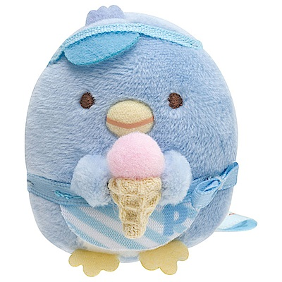 角落公仔企鵝冰淇淋系列掌心沙包公仔。北極企鵝 San-X