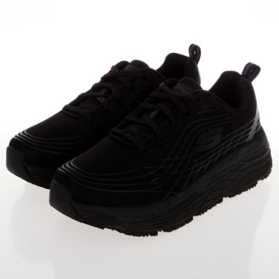 SKECHERS 女工作鞋系列 GORUN MAX CUSHIONING ELITE SR 寬楦款-108016WBLK