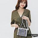 H:CONNECT 韓國品牌 -簡約條紋透明斜背包