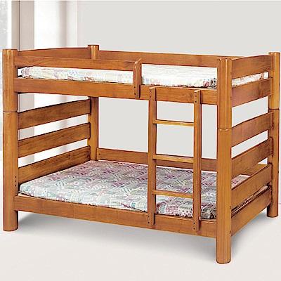文創集 莎莎時尚3.5尺實木單人雙層床台(不含床墊)-111x207x135cm免組