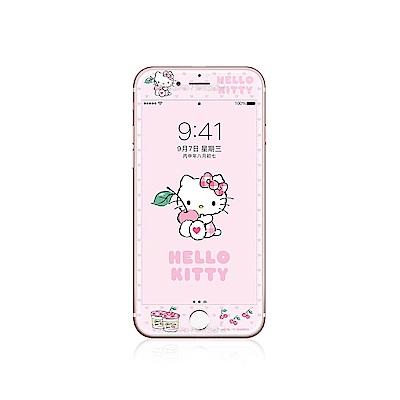 Hello Kitty iPhone 8 Plus/7 Plus 軟邊滿版鋼化玻璃貼 櫻桃