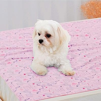 米夢家居-台灣製造-全方位超防水止滑保潔墊/寵物墊105x144cm-粉紅城堡