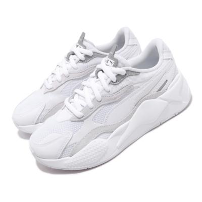 Puma 休閒鞋 RS X3 Puzzle 運動 男女鞋 厚底 舒適 簡約 情侶穿搭 老爹鞋 白 銀 37157003