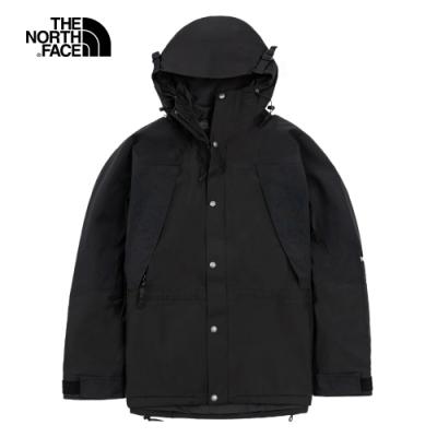 【經典ICON】The North Face北面男女款黑色防水透氣衝鋒衣|4R52JK3