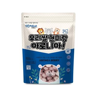 韓國【Dr.Nature】米博士 熊熊森林 野櫻莓球球餅(30g)