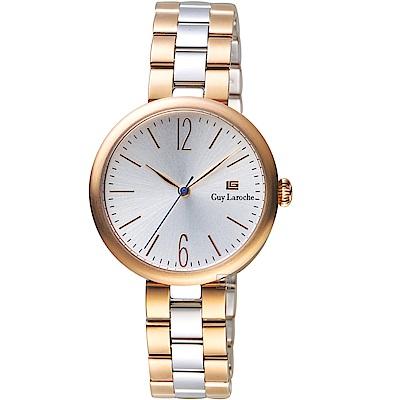 姬龍雪Guy Laroche Timepieces現代簡約時尚女錶(LW5054A-07)